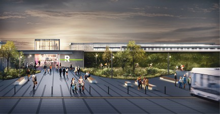 Press kit | 865-32 - Press release | Powerful and Eloquent, REM Architectural and Landscape Concept to Transform Greater Montreal Cityscape - Lemay - Urban Design -   REM - Île-des-Soeurs Station   - Photo credit: Réseau express métropolitain (REM)