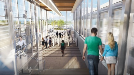 Press kit | 865-32 - Press release | Powerful and Eloquent, REM Architectural and Landscape Concept to Transform Greater Montreal Cityscape - Lemay - Urban Design -  REM - Du Ruisseau Station - Interior  - Photo credit: Réseau express métropolitain (REM)
