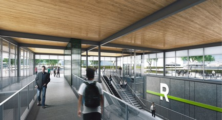 Dossier de presse | 865-32 - Communiqué de presse | Powerful and Eloquent, REM Architectural and Landscape Concept to Transform Greater Montreal Cityscape - Lemay - Urban Design - REM - Interior  - Crédit photo : Réseau express métropolitain (REM)