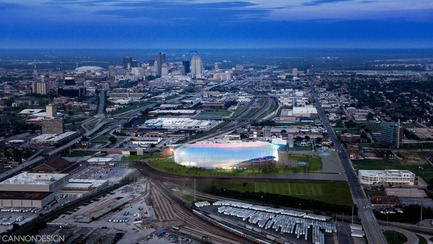 Press kit | 1456-02 - Press release | Shared Identity:CannonDesign's David Polzin Weighs in on the Importance of Communal Context - CannonDesign - Commercial Architecture - MLS Stadium Design Proposal - Photo credit: CannonDesign