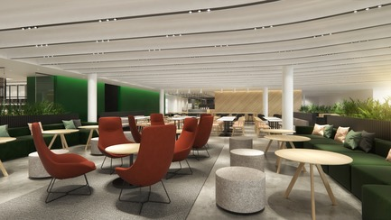 Dossier de presse | 952-26 - Communiqué de presse | New Spaces for Desjardins at the Montréal Tower - Provencher_Roy - Commercial Interior Design - Crédit photo : Provencher_Roy