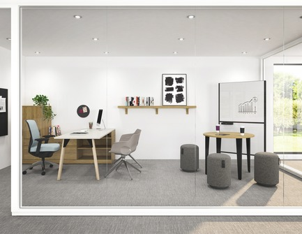 Dossier de presse | 1867-03 - Communiqué de presse | A New Office Furniture Distribution Group is Born - EMBLM - Commercial Interior Design -  A complete workspace by Artopex: from architectural walls to furniture.<br>Artopex is a partner of EMBLM - Crédit photo :  Artopex