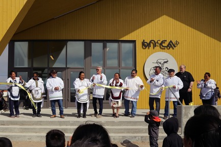 Press kit | 3256-01 - Press release | Nunavik's New Cultural Centre Opens Its Doors - Blouin Orzes architectes - Institutional Architecture - Opening Day Ceremony<br> - Photo credit: Blouin Orzes architectes