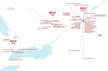 Press kit | 1387-05 - Press release | NEUF Architect(e)s Deepens its Foundations - NEUF architect(e)s - Event + Exhibition - NEUF architect(e)s' Three Offices: Montreal - Toronto - Ottawa - Photo credit: NEUF architect(e)s