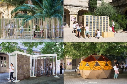 Press kit | 982-41 - Press release | Retour sur le Festival des Architectures Vives 2018 - Association Champ Libre - Festival des Architectures Vives (FAV) - Évènement + Exposition -  Les 1000 bambous au 3 sens / Labydoise / La Campagne à la Ville / Egnaro  - Photo credit:   ©photoarchitecture