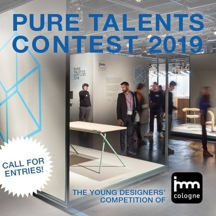 Dossier de presse | 2704-03 - Communiqué de presse | Call for Entries for Pure Talents Contest 2019: Kicking Off the imm cologne and LivingKitchen Design Competition - imm cologne 2019, Koelnmesse GmbH - Competition - Pure Talents Contest 2019 call for entries key visual - Crédit photo : Koelnmesse GmbH