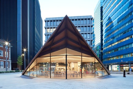 Press kit | 2317-03 - Press release | Make Unveils New Monocoque Pavilion for City of London - Make Architects - Commercial Architecture - Portsoken Pavilion by Make Architects. - Photo credit: Make Architects