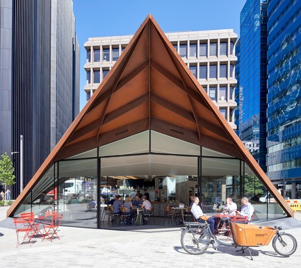 Press kit | 2317-03 - Press release | Make Unveils New Monocoque Pavilion for City of London - Make Architects - Commercial Architecture - Portsoken Pavilion is an important community amenity - Photo credit: Make Architects