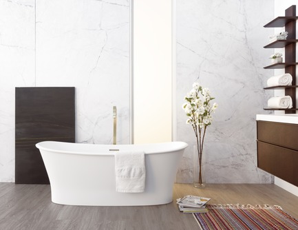 Dossier de presse | 2342-04 - Communiqué de presse | WETSTYLE Launches a Series of Three New Bathtubs - WETSTYLE - Product - Cloud bathtub - Crédit photo : WETSTYLE