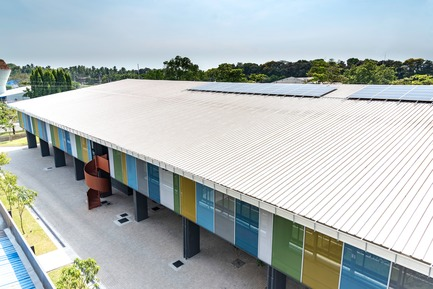 Press kit | 2605-02 - Press release | JPDA Makes History With Certification of First Passive House Building In South Asia - Jordan Parnass Digital Architecture - Commercial Architecture - Roof with Solar Panels - Photo credit:  Jordan Parnass Digital Architecture