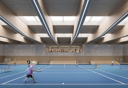 Press kit | 1018-07 - Press release | Leconsortium Metaform / Mecanoo est retenu pour construire le premier vélodrome du Grand-Duché de Luxembourg - Metaform architects - Concours - Hall des Sports - Photo credit: Mecanoo