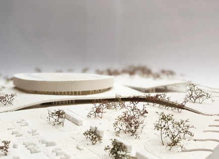 Press kit | 1018-07 - Press release | Leconsortium Metaform / Mecanoo est retenu pour construire le premier vélodrome du Grand-Duché de Luxembourg - Metaform architects - Concours - La maquette - Photo credit: Metaform