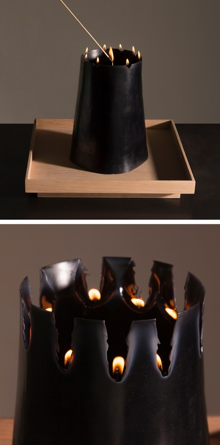 Press kit | 2757-06 - Press release | UMÉ Studio Unveils New Limited Edition Items - UMÉ STUDIO - Product - The stages of the Candle Pit as it burns.  - Photo credit: William Boice