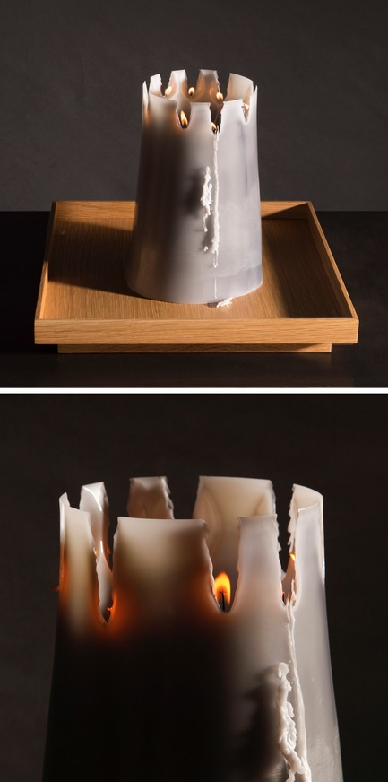 Press kit | 2757-06 - Press release | UMÉ Studio Unveils New Limited Edition Items - UMÉ STUDIO - Product - The stages of the Candle Pit as it burns. <br> - Photo credit: William Boice