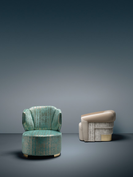 Press kit | 2253-08 - Press release | The Best of Portugal: Associative Design Presents a Curated Collection of Artistic Portuguese Design at Downtown Design 2018 - Associative Design - Event + Exhibition - Associative Design_OPR The Luxury House_Degrade Armchairs_Stand A13 - Photo credit: OPR