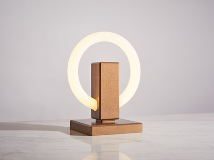 Press kit | 3412-02 - Press release | Karice, Award Winning Designer Unveils its Latest Luminaire - Olah Table Lamp - Karice Enterprises Ltd. - Product - Olah Table Lamp - Bronze Finish - Photo credit: Jordan N. Dery