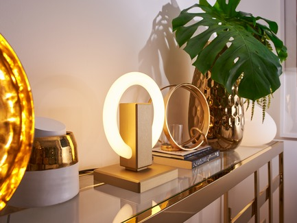 Press kit | 3412-02 - Press release | Karice, Award Winning Designer Unveils its Latest Luminaire - Olah Table Lamp - Karice Enterprises Ltd. - Product - Olah Table Lamp - Jewelry on a Sideboard - Photo credit: Jordan N. Dery