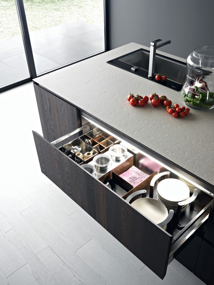 Press kit | 1045-01 - Press release | Cesar kitchens now have their point of sale in Montreal - Pure Cuisines + mobilier européens - Industrial Design - ELLE - Photo credit: Pure Cuisines