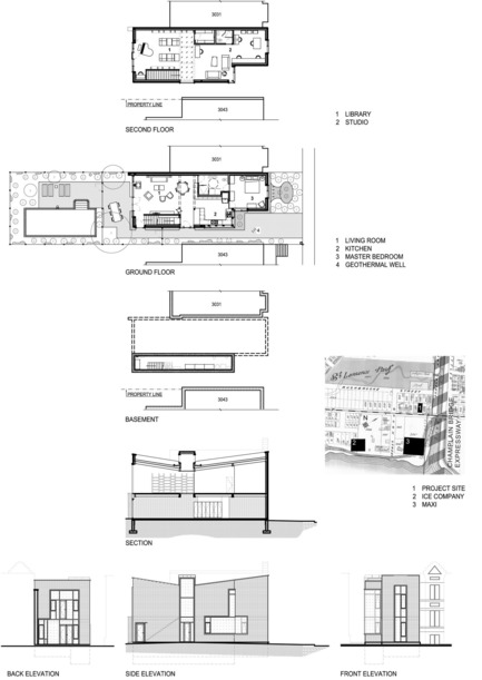 Press kit | 3211-01 - Press release | Ice Shore House - INDESIGN inc CONRATH architecte - Residential Architecture - Site and project plans and elevations - Photo credit: Indesign