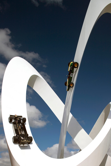 Press kit | 1022-01 - Press release | Lotus sculpture for the Goodwood Festival of Speed 2012 - Gerry Judah - Art - Photo credit: David Barbour