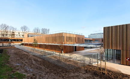 Press kit | 1008-01 - Press release | School complex Lucie Aubrac - Dietmar Feichtinger Architectes - Institutional Architecture - Photo credit: David Boureau