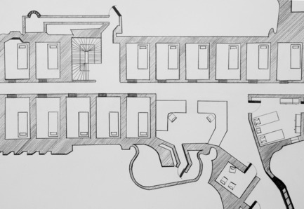 Dossier de presse | 985-01 - Communiqué de presse | Aérial - Baptiste Debombourg - Art - Tradition of Excellence XI -Famas-F1-, detail view, drawing, frame, pencil  on vinci paper 45x100cm