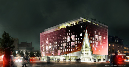 Press kit | 675-05 - Press release | The 2-22, Quartier des spectacles, Montréal - Aedifica - Institutional Architecture