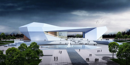 Press kit | 896-01 - Press release | The Shanxi Grand Theater, in Taiyuan (China) - Arte Charpentier Architectes - Institutional Architecture - Photo credit: 3D - Perspective du concours