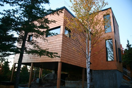 Press kit | 877-01 - Press release | Les Terrasses Cap-À-L'aigle: Where architecture and nature connect - MU Architecture - Residential Architecture - LA PLAISANCE - Photo credit: Les Terrasses Cap-à-L'Aigle
