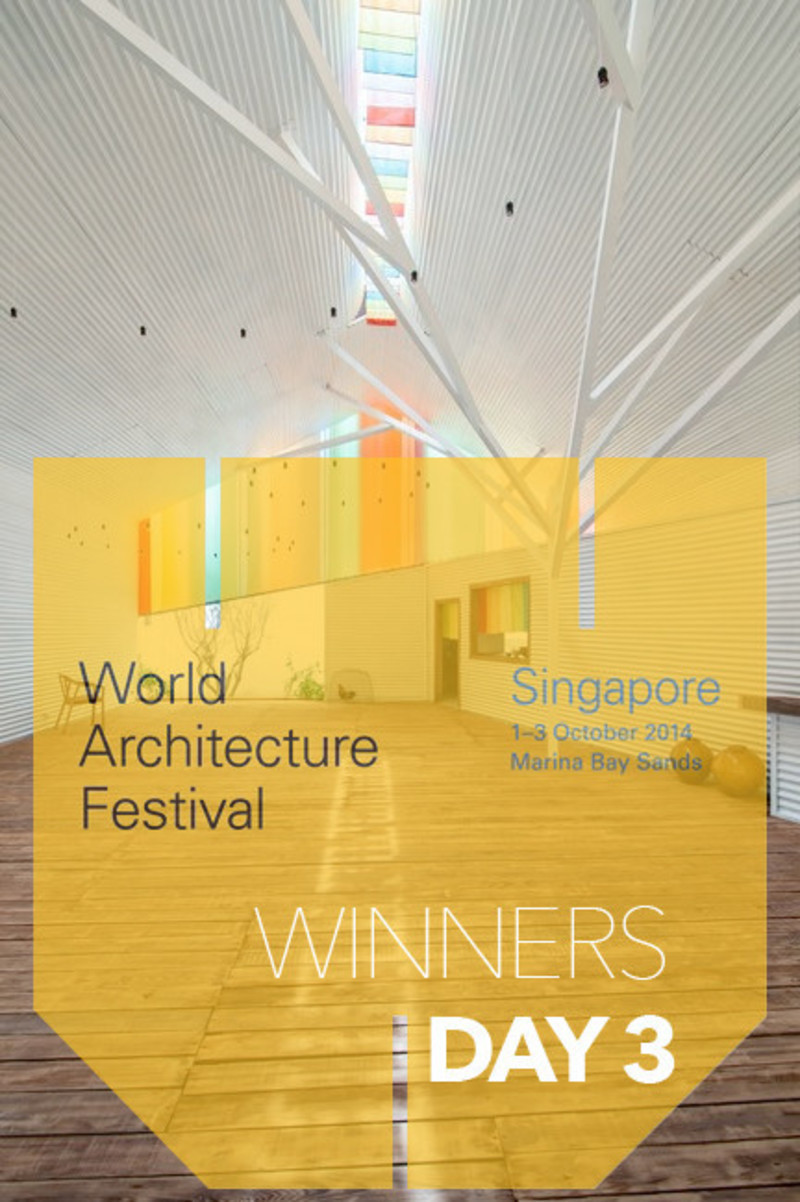 Press kit - Press release - 2014 Winners announced Day three - World Architecture Festival (WAF)