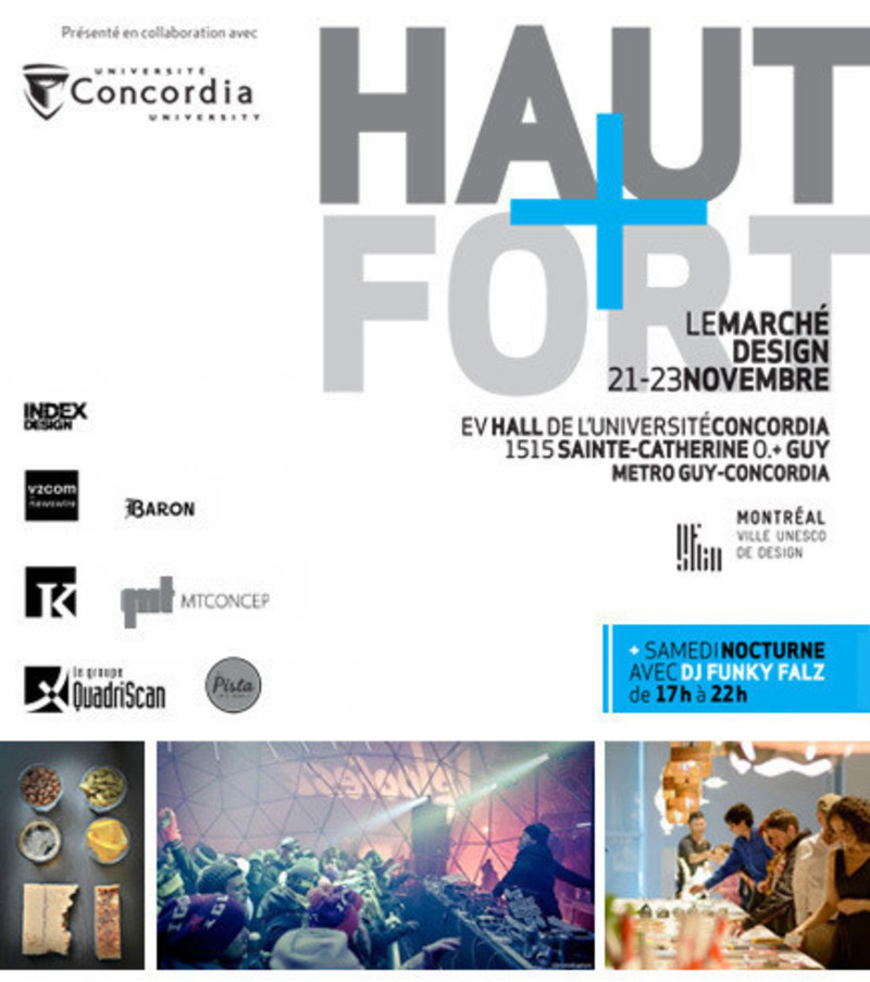 Press kit - Press release - Loud+Clear: The Design Market, 3rd edition, will be held at Concordia University - HAUT+FORT