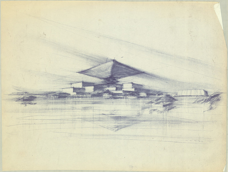 Press kit - Press release - Drawings by the renowned Canadian architect Arthur Erickson to be presented at the UQAM Centre de Design - Centre de design de l'UQAM