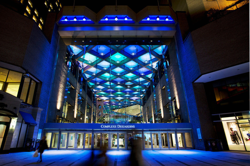 Press kit - Press release - A Dynamic NewLighting Signature for Complexe Desjardins - Lightemotion
