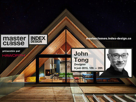 "Press kit - Press release - ""Memory & innovation"", a Master Class with John Tong, designer - Index-Design"