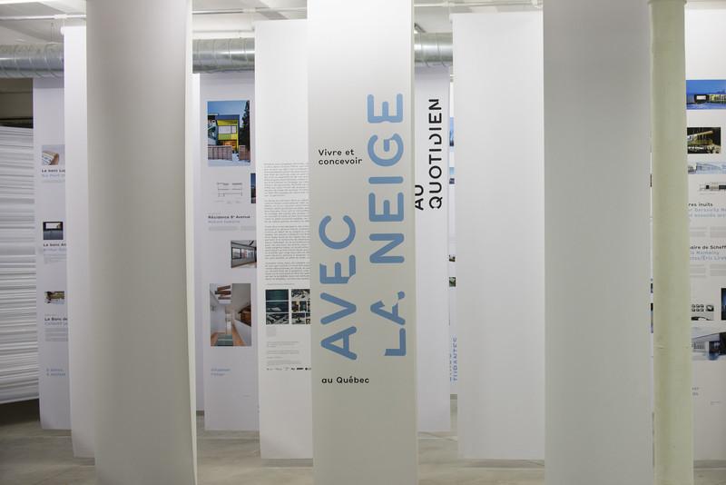 Dossier de presse - Communiqué de presse - Vivre et concevoir avec la neige au Québec - Maison de l'architecture du Québe