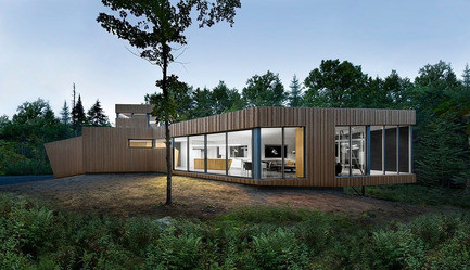 Newsroom - Press release - House on Lac Grenier - Paul Bernier Architecte