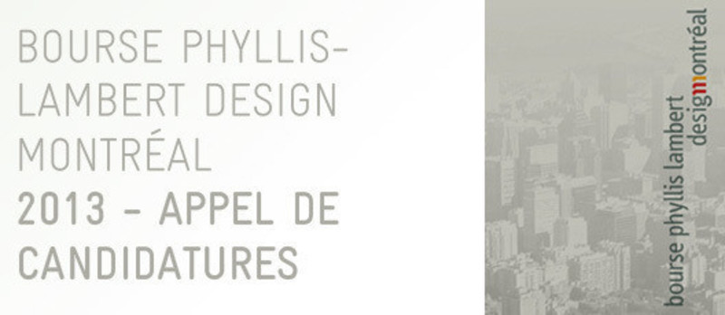 Newsroom - Press release - Phyllis Lambert Design Montréal grant call for entries from young design professionals - Bureau du design - Ville de Montréal