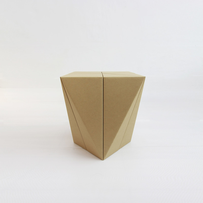 Press kit - Press release - Fractal Surface Structure made with Cardboard Sheet: Spiral Stool by MisoSoupDesign Awarded Platinum A'Design Award - MisoSoupDesign