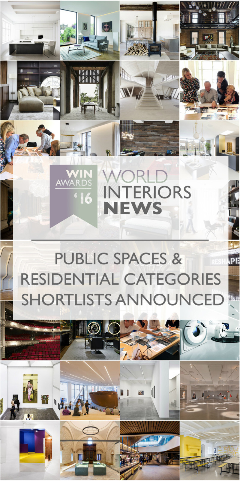 Press kit - Press release - WIN Awards - Public Spaces + Residential Categories Shortlists Announced - World Interiors News