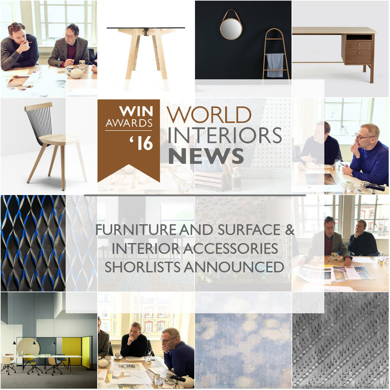 Newsroom - Press release - WIN Awards - Furniture and Surface & Interior Accessories Shortlists Announced - World Interiors News