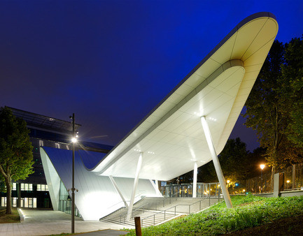 Newsroom - Press release - Evergreen campus reception pavilion - Arte Charpentier Architectes