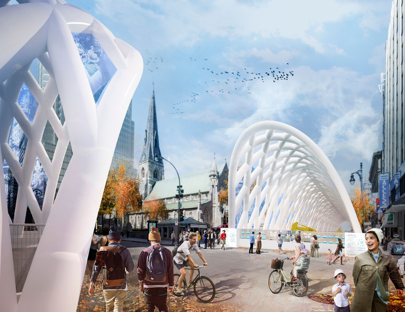 Newsroom - Press release - KANVA wins the City of Montréal's competition 'Vivre le Chantier Sainte-Cath!' to animate the construction site - KANVA