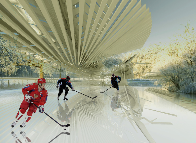 Newsroom - Press release - Photovoltaic Ice Skating Rink - Margot Krasojević Architects