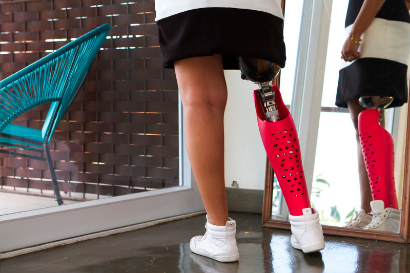 Press kit - Press release - Confetti Prosthetic Leg Cover - Furf Design Studio