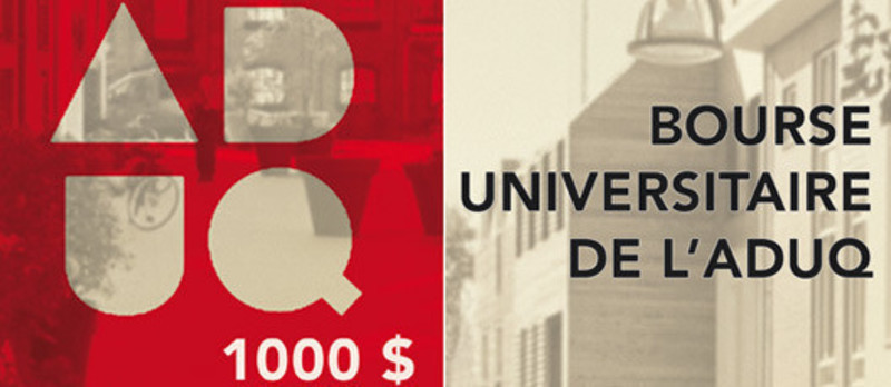 Press kit - Press release - Bourse universitaire de l'ADUQ 2013 - Association du design urbain du Québec (ADUQ)