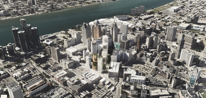 Dossier de presse - Communiqué de presse - The Monroe Blocks, a Major Mixed-Use Development in the Heart of Downtown Detroit - Schmidt Hammer Lassen Architects
