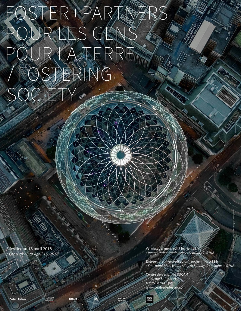 Newsroom - Press release - Fostering Society: Foster + Partners: Exhibition on Responsible Architecture Pioneers at the UQAM Centre de Design - UQAM Centre de Design