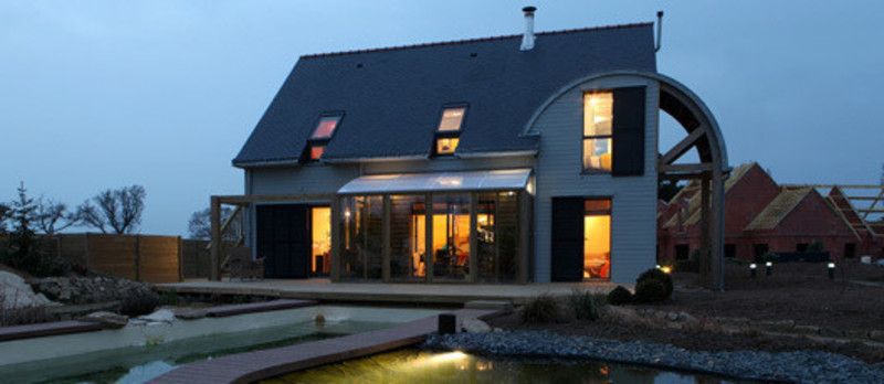 Press kit - Press release - An organic, bioclimatic house in Brittany - Patrice Bideau