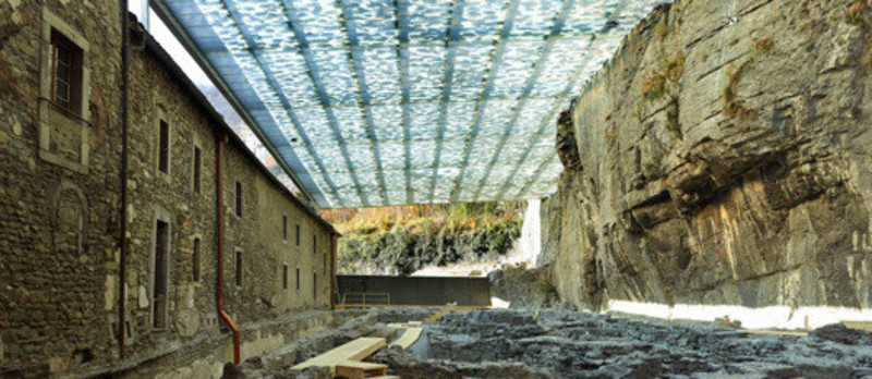 Press kit - Press release - Coverage of archaeological ruins of the abbey of St. Maurice - savioz fabrizzi architectes