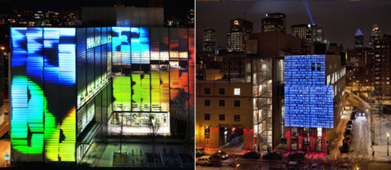 Press kit - Press release - Two new video-projection works - Quartier des spectacles partnership